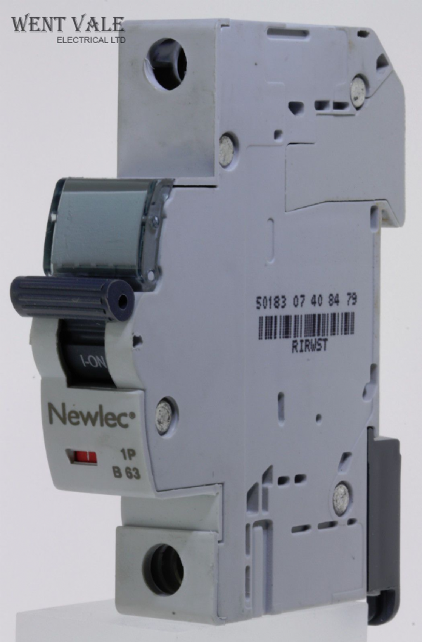 Newlec - NLMB163BA - 63a Type B Single Pole MCB Latest Model NEW